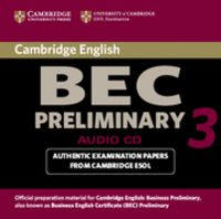 Cambridge bec preliminary 3 audio cd