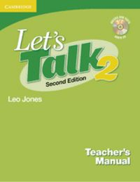 Let's talk teacher's manual 2 with audio cd 2nd edition