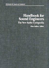 Handbook sound engineers