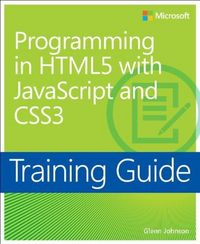 Programming in html5 with javascript and css3: training gui