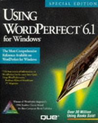 Using wordperferct 6.1 special edit.