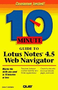 Ten minute guide lotus notes