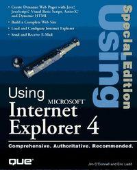 Using internet explorer 4 ed.special