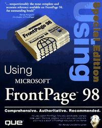 Using microsoft frontpage 98 special e