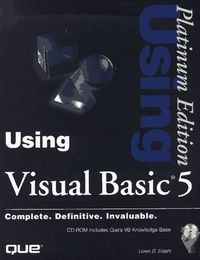 Using visual basic 5 platinum edit.