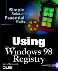 Using ms windows 98 registry