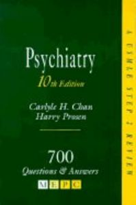 Psychiatry 10th edition quest & ans