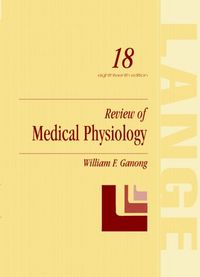 Review medical physiology 18 ed
