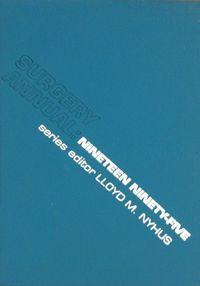 Surgery annual 1995 series editor