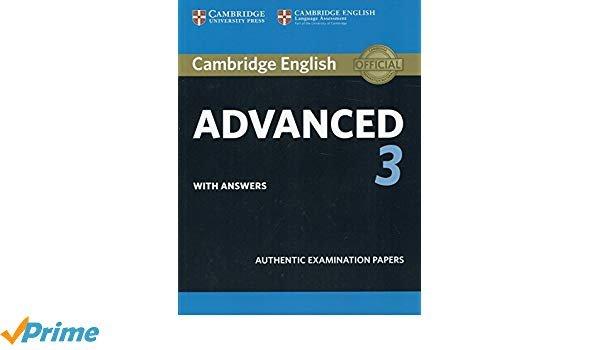 Cambridge english advanced 3 st