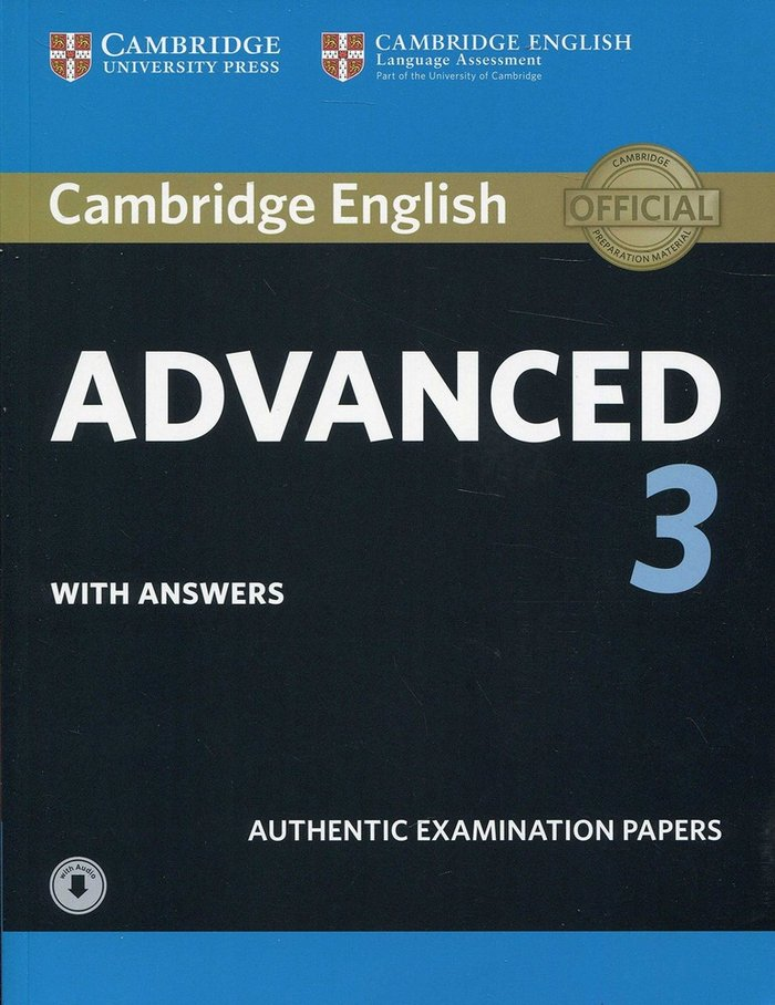 Cambridge english advanced 3 st with aswers +cd