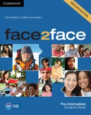 Face2face second edition. student's book. pre-. intermediate