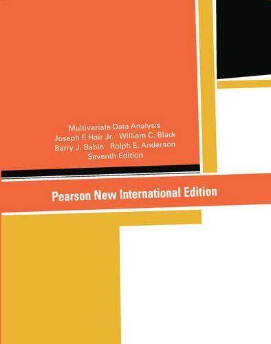 Multivariate data analysis pearson
