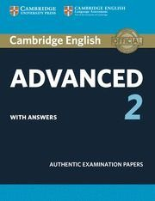 Cambridge certif. advanced 2 st whit key 15