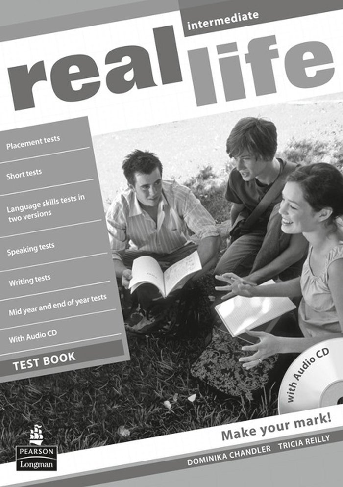 Real life global intermediate test book & test aud
