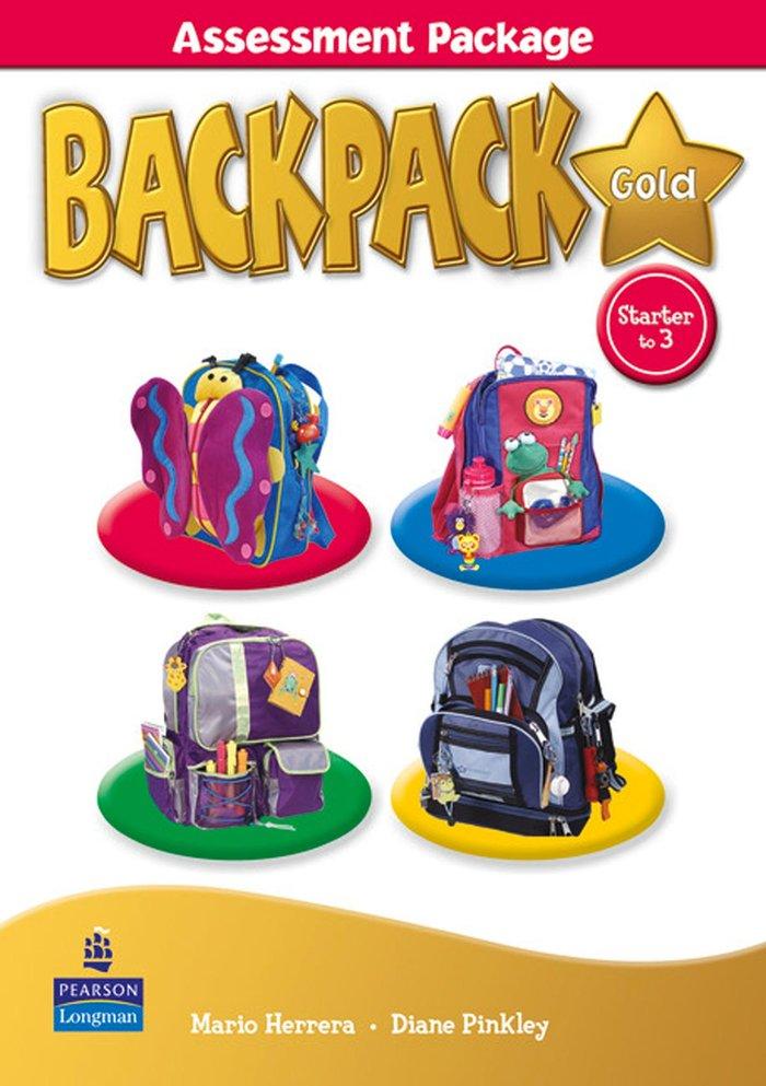 Backpack gold assessment pack book & m-rom str - 3