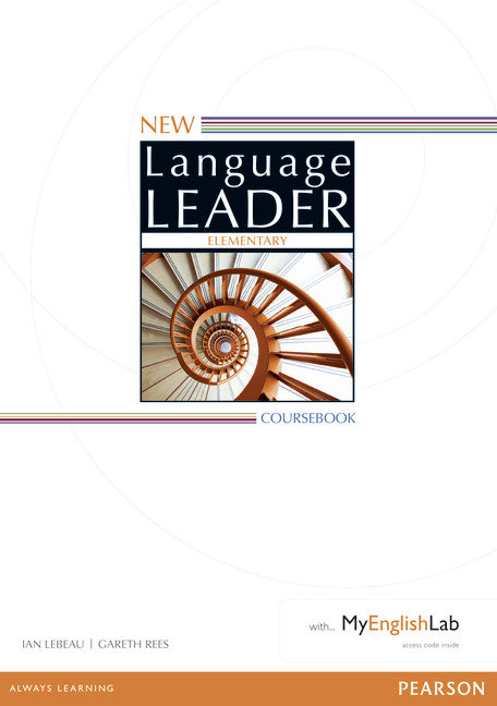 New language leader elementary coursebook with mye
