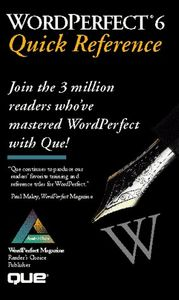 Wordperfect 6 quick reference