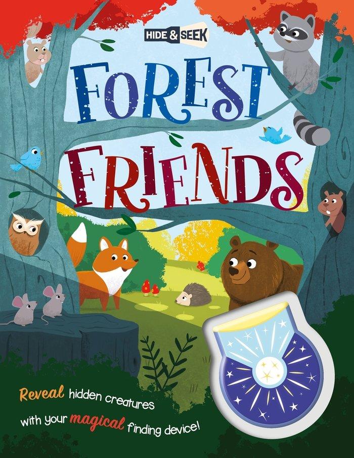 Hide and seek forest friends magical light book