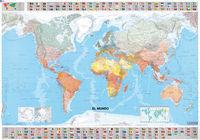 Mapa plastificado el mundo