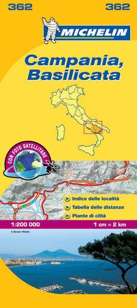 Mapa local campania basilicata