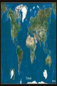 Mapa mural planisferio foto satelite