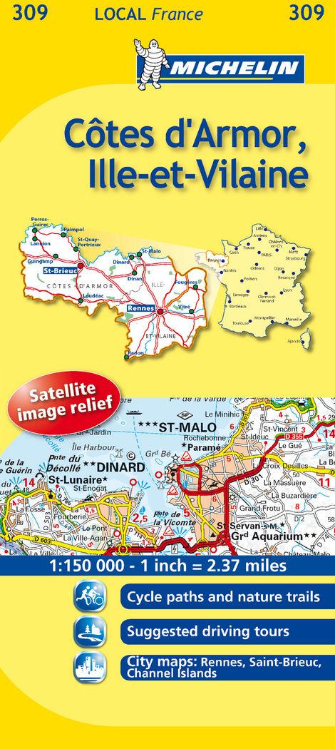 Mapa local câtes-d'armor, ille-et-vilaine
