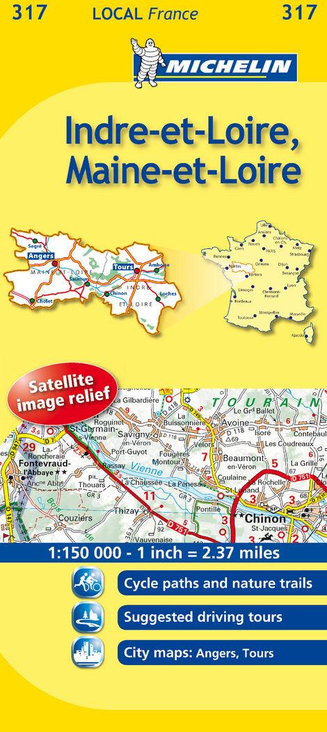 Mapa local indre-et-loire, maine-et-loire