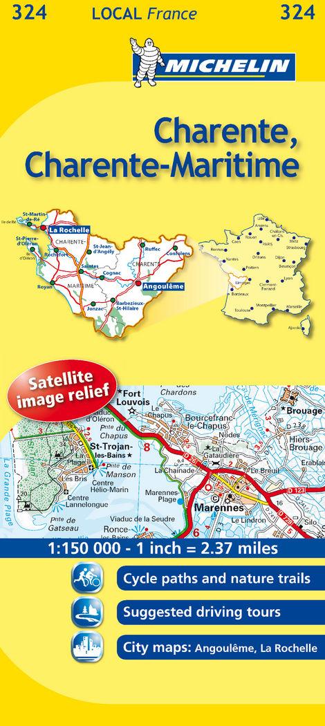 Mapa local charente, charente-maritime