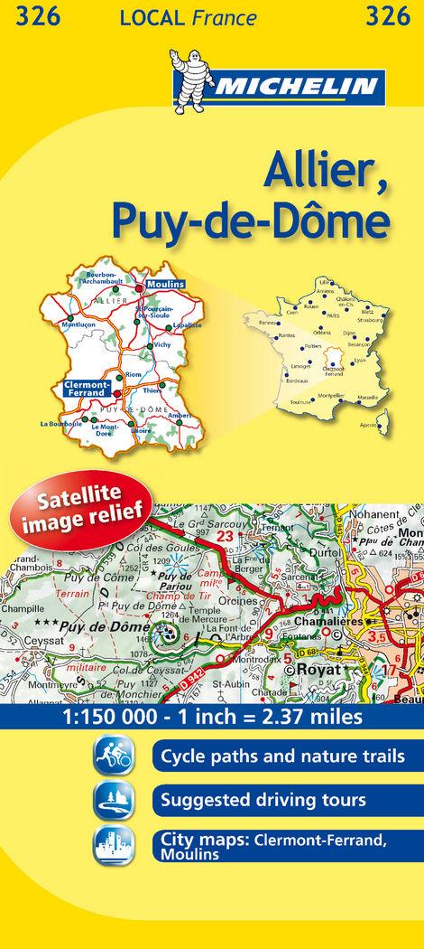 Mapa local allier, puy-de-dâme