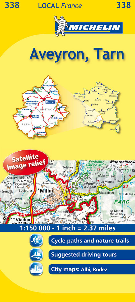 Mapa local aveyron, tarn