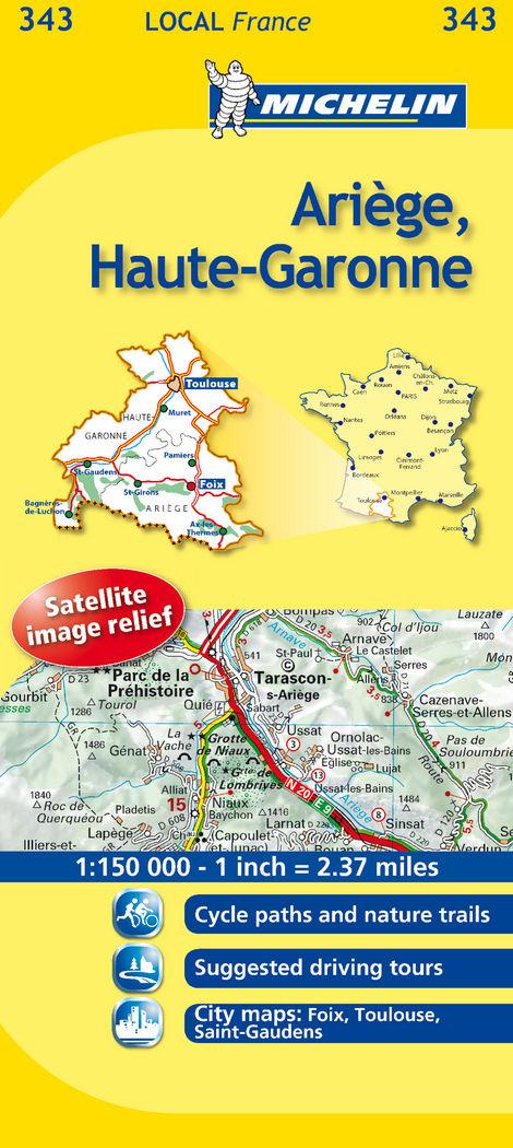 Mapa local ariege, haute-garonne