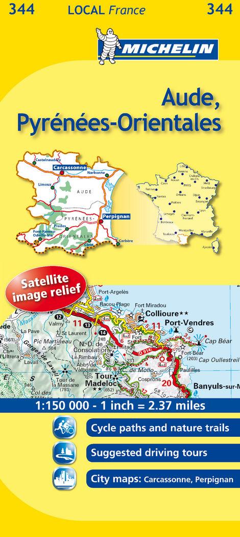 Mapa local aude, pyrenees-orientales