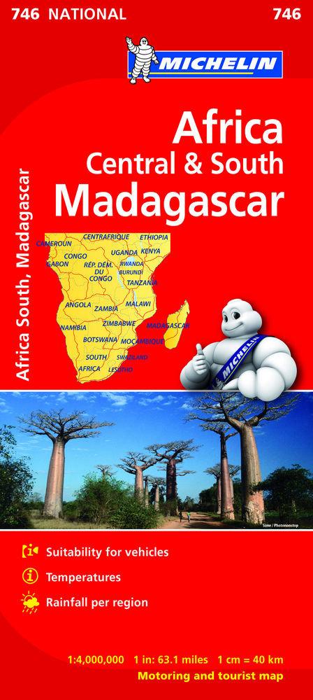 Mapa national africa centro-sur, madagascar(746)2019