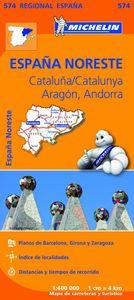 Mapa regional cataluña catalunya aragon andorra 574 2013
