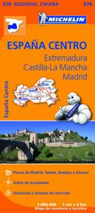 Mapa regional extremadura castilla la mancha madrid 576 13