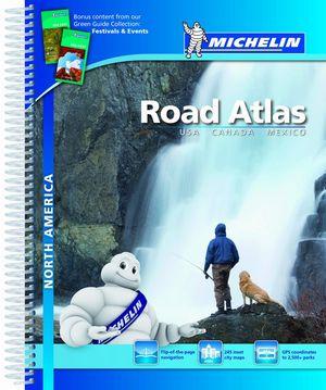 Road atlas north america usa canada mexico