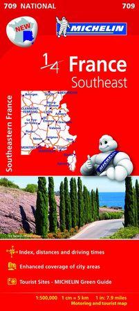 Mapa national france southeast