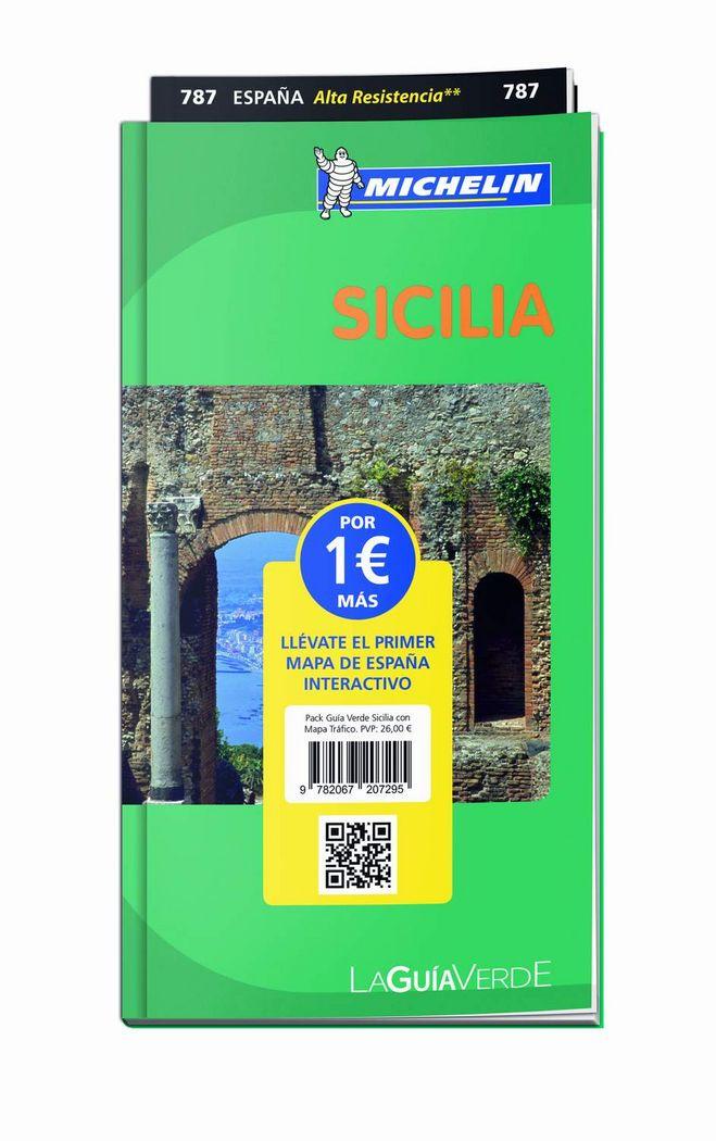 Pack guia verde sicilia con mapa trafico