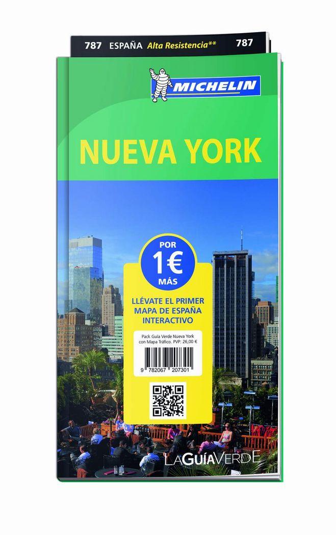 Pack guia verde nueva york con mapa trafico