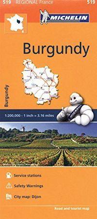 Mapa regional 519 burgundy francia 2016