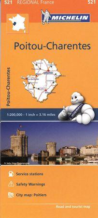 Mapa regional poitou charentes 521 francia 2016