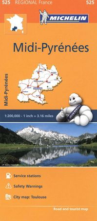 Mapa regional midi pyrenees 525 francia 2016