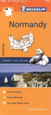 Mapa regional normandy 513 francia 2016