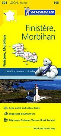 Mapa local finistere morbihan 308 francia 2016