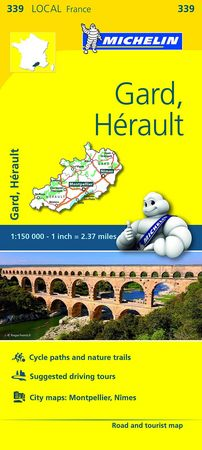 Mapa local gard herault 339 francia 2016