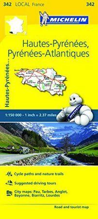 Mapa local hautes pyrenees pyrenees atlantiques 342 francia