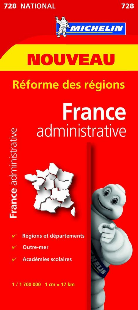 Mapa national francia administrativa