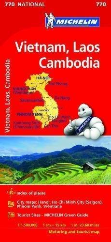 Mapa national vietnam laos cambodge