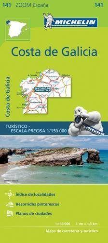 Mapa zoom costa de galicia